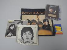 Lot Beatles Collectibles with 2 - 45 Records etc.