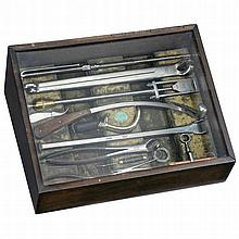 Arnold & Sons Veterinary Surgical Set Showcase, c. 1890