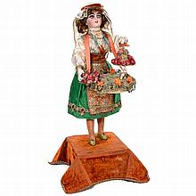 Gypsy Flower Seller Musical Automaton by Lambert, c. 1920