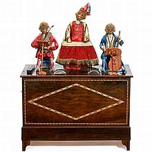 Rare 20-Key Barrel Organ with Three Monkey Automata by Théroude, c. 1865