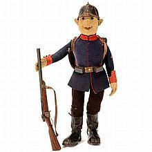 Large Steiff Soldier Doll, c. 1910