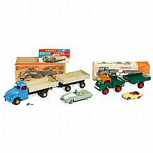 4 Tin Toy Cars, 1965 onwards