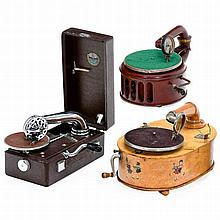 2 Toy and 1 Portable Gramophones, 1925 onwards