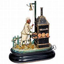 Musical Automaton Monkey Baker by Jean-Marie Phalibois, c. 1880