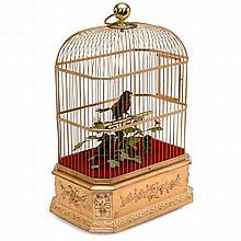 Triple-Singing Bird Automaton by Bontems, c. 1920
