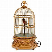 Singing Bird in Cage Automaton by Blaise Bontems, c. 1910