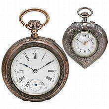 2 Silver Pocket Watches, c. 1900
