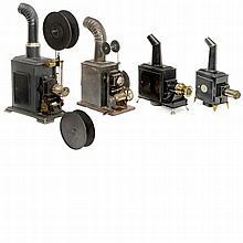 4 Metal Magic Lanterns, c. 1900-1920