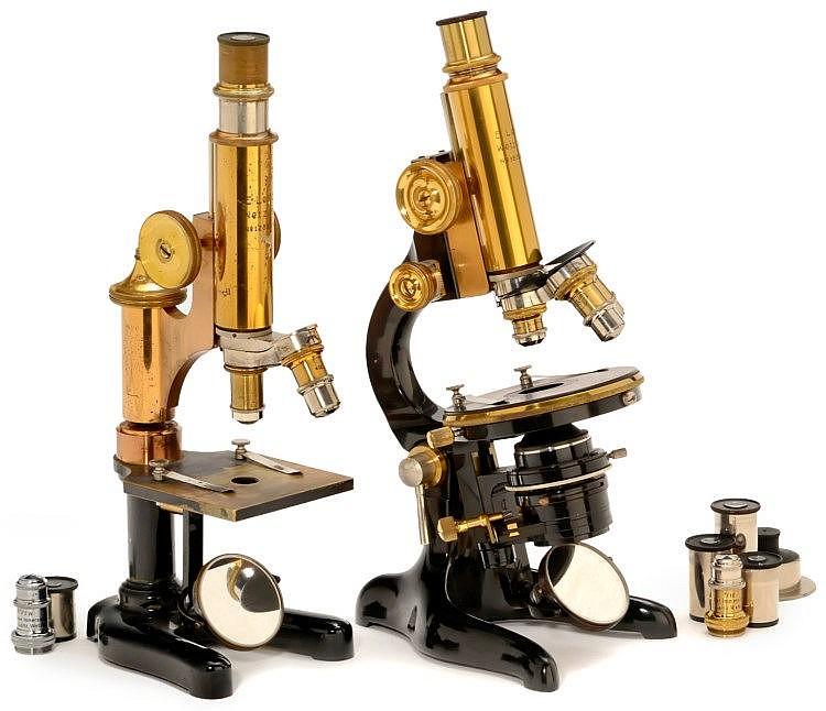 2 Microscopes by Ernst Leitz