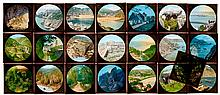 22 Hand-Colored Magic Lantern Slides by William Charles Hughes, c. 1900