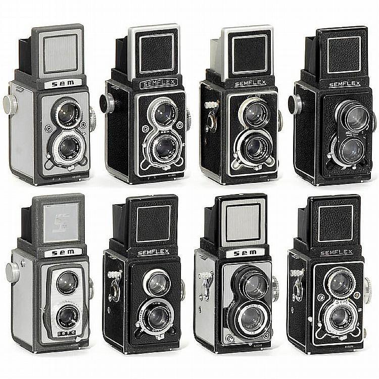 Lot Semflex 6x6cm TLR Cameras