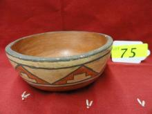 Polychrome Pottery Bowl, believed to be Hopi
