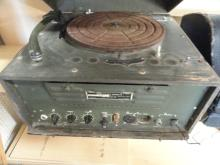 U.S. POST WWII, PRE KOREA, ELECTRIC RECORD PLAYER, WORKS, PA SYSTEM ALSO