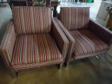 PAIR OF IKEA STRIPE OCCASIONAL CHAIRS