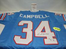 EARL CAMPBELL AUTOGRAPHED HOUSTON OILERS JERSEY WITH COA