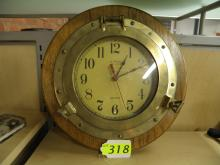 J.R. RITCHIE CO CHIPS PORTHOLE STYLE CLOCK