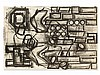 Barry Le Va, Lithograph, Plan View for Floor Sculpture, 1991, Barry LeVa, €500
