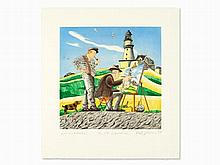 Red Grooms, Aquatint Etching, 'To the Lighthouse', 1997