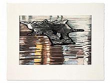 Karin Kneffel, Etching, Zebra Fur (Untitled), Germany, 2010