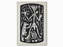 A. R. Penck, Untitled, Woodcut, late 20th Century
