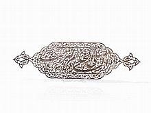 Safavid Steel Plaque, Persia, 17th C.