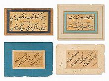 4 Islamic Calligraphies, Persia, 19th/20th C.