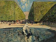 A. Ruzicka-Lautenschläger (1894-1947), Schönbrunn, Oil, 1920s
