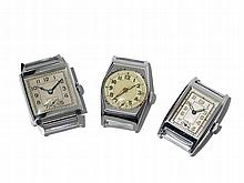 3 Wristwatches, Switzerland/ Germany, Around 1970