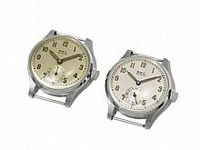 BWC, 2 Wristwatches, Switzerland, Around 1965
