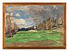 Rudolf Hafner (1893-1951), Early Spring in Trins, Tyrol c. 1947