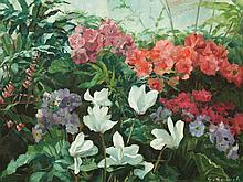 Georg Gerlach, Blossoming Flowers in the Green House, c. 1930