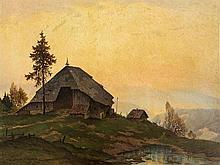 Karl Hauptmann (1880-1947), Painting, Autumn in Elztal, c. 1925