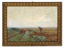 Anton Hans Karlinsky (1872-1945), Oil Painting, Harvest, 1910
