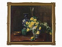 Helen Iversen (1870-after 1930), Vase with Yellow Roses c. 1925