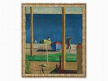 Yoshio Aoyama (1894-1996), Boats on the French Riviera, 1927