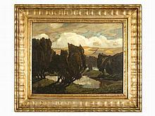 Ludwig Dill (1848-1940), 'Abend in den Wacholdern', 1911