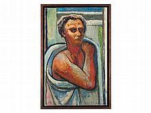 Bruno Krauskopf (1892-1960) Oil Painting, Self-Portrait c. 1950