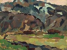 Minna Köhler-Roeber (1883-1957), Village in the Mountains, 1922