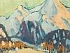 Minna Köhler-Roeber (1883-1957), Davos Mountains, c. 1925