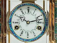 Pendulum Clock with Cloisonné Decoration, Asia, late 20th C.
