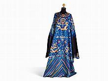 Jifu Blue Silk Nine-Dragon Robe, China, late 19th C