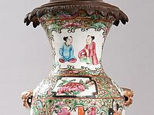 Table lamp with Famille Verte Vase, China around 1870/1880