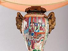 Table lamp with Famille Rose Vase, China around 1870/1880