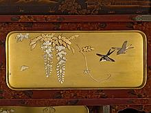Japanese Cabinet with Shibayama Lacquer Inlays, 19th C