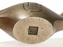 Shugoro Hasuda Bronze Censer of an Oil lamp, Japan, 20th C