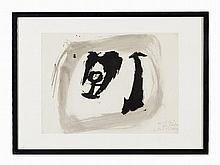 Julius Bissier (1893-1965) Composition, India Ink Drawing, 1960