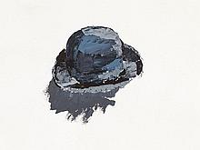 Gérard Gasiorowski (1930-1986), Oil Drawing, Hat, France, 1973