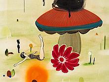 Kathrine Aertebjerg (b.1969), Painting, Yoga Girl, Denmark,´04