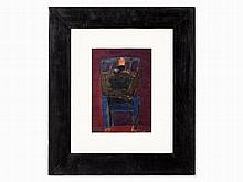 Hermann Bachmann (1922-1995), Man on Blue Chair, 1962