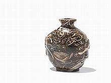 Agate Snuff Bottle with Handles on the Side, Qing